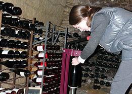 Wine bottling in a private property in the Loire Valley